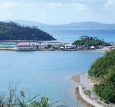 大宜味村の塩屋湾(国道58号線)